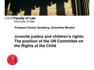 Professor Kirsten Sandberg, Committee Member
