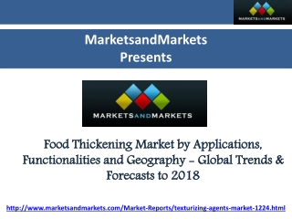 Food Thickening Market by Applications, Functionalities and