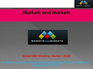 Global EMC Shielding Market worth $3,788.86 Million by 2016