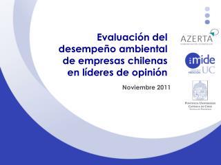 Evaluaci n del  desempe o ambiental  de empresas chilenas  en l deres de opini n