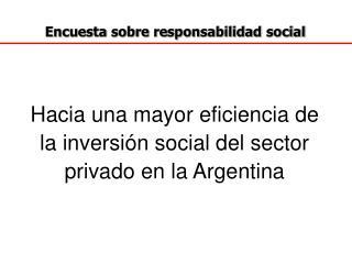 Encuesta sobre responsabilidad social