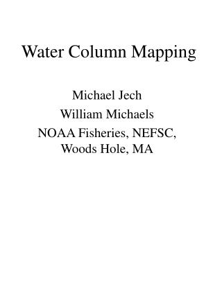 Water Column Mapping
