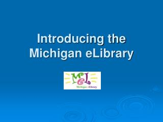 Introducing the Michigan eLibrary