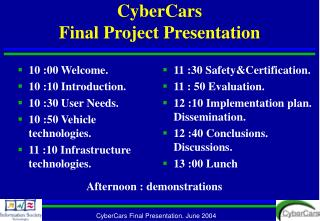 CyberCars Final Project Presentation