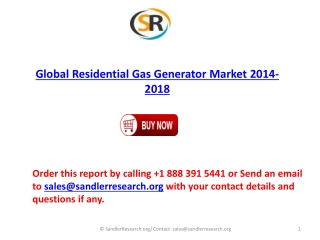 Global Residential Gas Generator Industry Analysis and Forec