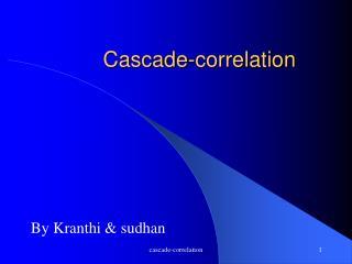Cascade-correlation