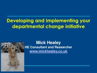 Developing and Implementing your departmental change initiative