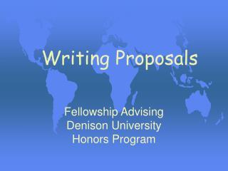 Writing Proposals