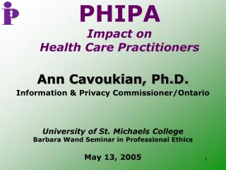 PHIPA Impact on  Health Care Practitioners