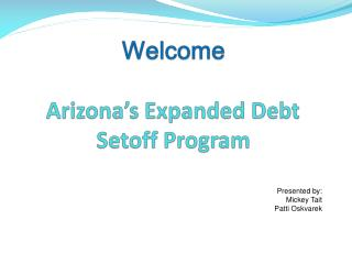 Welcome  Arizona s Expanded Debt Setoff Program