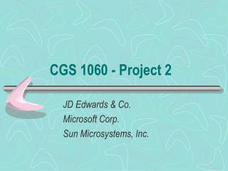 CGS 1060 - Project 2