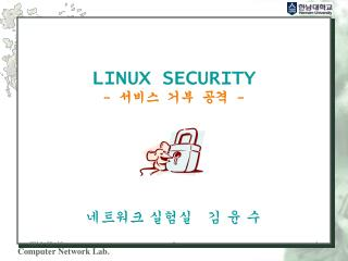 LINUX SECURITY -    -