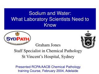sodium and water:  what laboratory scientists need to know