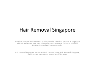 Hair Removal Singapore