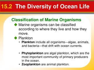15.2  The Diversity of Ocean Life