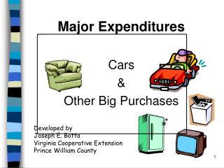 Major Expenditures  Cars  Other Big Purchases