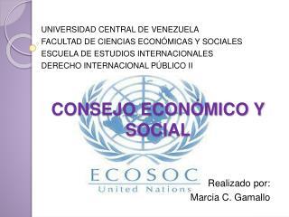 CONSEJO ECON MICO Y SOCIAL
