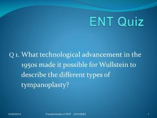 ENT Quiz
