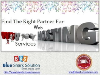 Find the right partner for web hosting services