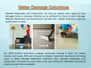 Water Damage Columbus Oh