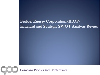 Biofuel Energy Corporation (BIOF) - Financial and Strategic