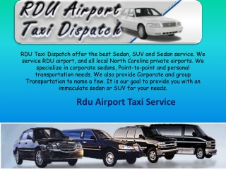 Official Rdu Airport Taxi