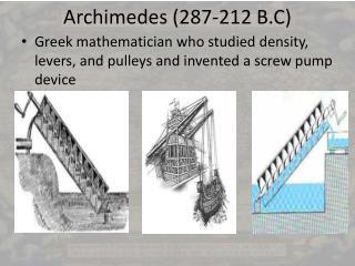 Archimedes 287-212 B.C