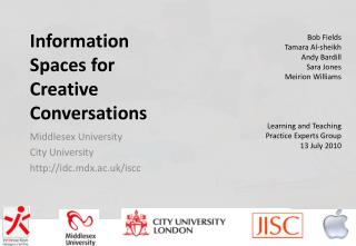 Information Spaces for Creative Conversations