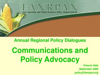 Communications and Policy Advocacy