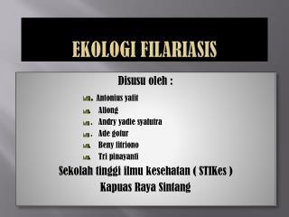 Ekologi filariasis