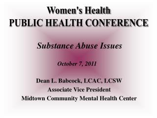Womens Health PUBLIC HEALTH CONFERENCE