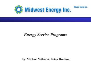 Energy Service Programs
