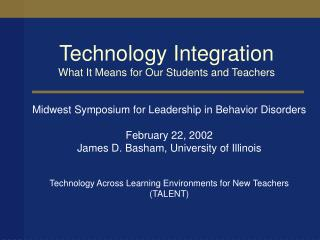 Technology Integration What It Means for Our Students and Teachers