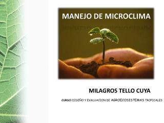 MANEJO DE MICROCLIMA