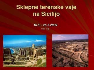 Sklepne terenske vaje  na Sicilijo