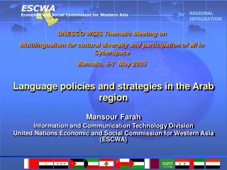 Language policies and strategies in the Arab region