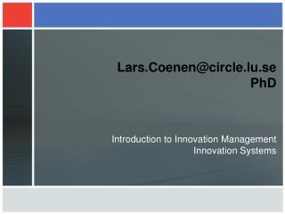 Lars.Coenencircle.lu.se  PhD