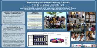 The Community Involvement Community of Practice:  A Model for Collaboration in the Field  Katherine West Slevin1, Nomamp