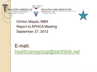 E-mail: healthcaregroupearthlink