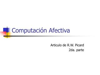 Computaci n Afectiva