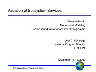 EPA Global Change Research Program
