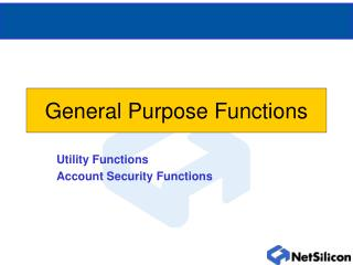 General Purpose Functions