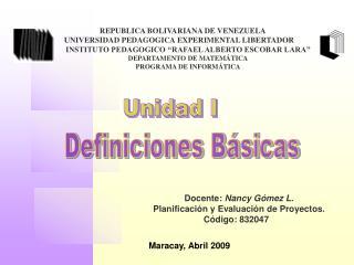 REPUBLICA BOLIVARIANA DE VENEZUELA  UNIVERSIDAD PEDAGOGICA EXPERIMENTAL LIBERTADOR   INSTITUTO PEDAGOGICO  RAFAEL ALBERT