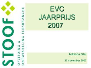 EVC JAARPRIJS  2007