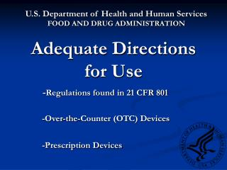 adequate directions for use