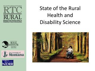 State of the Rural Health and Disability Science