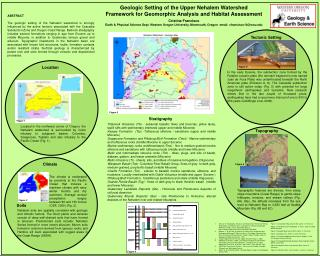 Geologic Setting of the Upper Nehalem Watershed  Framework for Geomorphic Analysis and Habitat Assessment    Cristina Fr