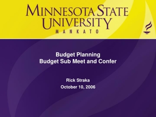 2008-09 budget guidelines