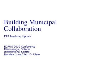 Building Municipal Collaboration