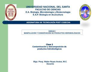ASIGNATURA DE TECNOLOG A POST COSECHA